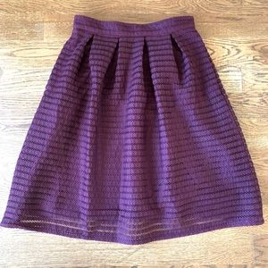 FOREVER 21 Midi Lace pleated Skirt Purple Size L